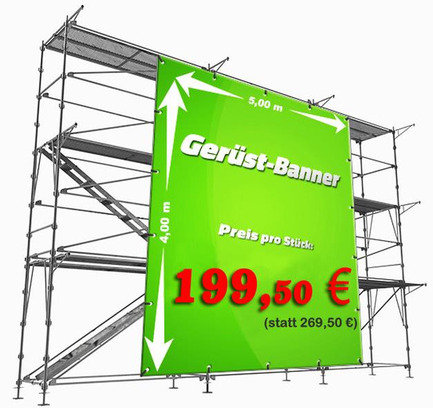 ger st banner in profiqualit t 5 x 4 m ab 159 50 wanddesigner. Black Bedroom Furniture Sets. Home Design Ideas